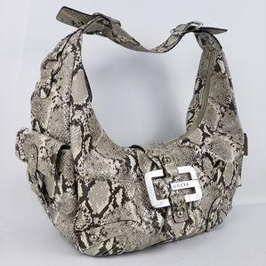 G by Guess Python Vegan Leather Hobo Shoulder Bag